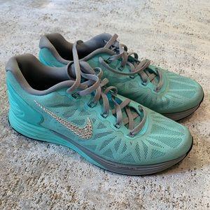 Custom Tiffany Blue Nike Shoes w/ Swarovski - 7